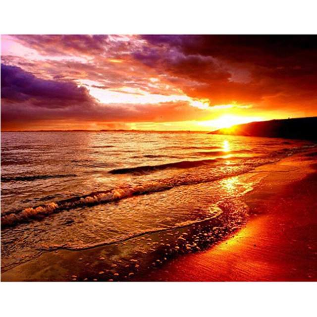 Sunset over Sea Paint by Number Kit