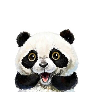 Surprised Panda - Easy Paint by Numbers for Child