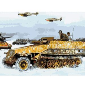 Tank Battle - Paint by Numbers for Kids
