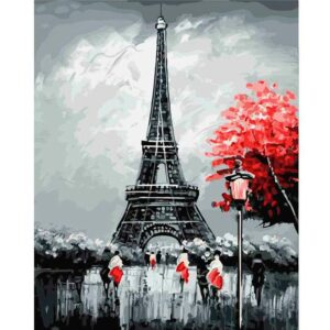 The Eiffel Tower - Paris Paint by Numbers