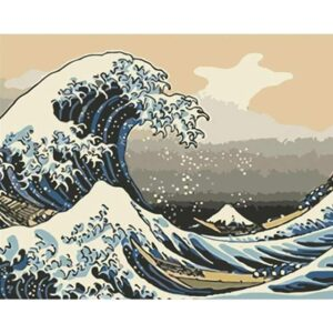 The Great Wave off Kanagawa by Katsushika Hokusai 1831 - Paint by Numbers
