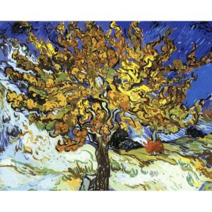 The Mulberry Tree by Vincent van Gogh 1890 - Oil Paint by Numbers