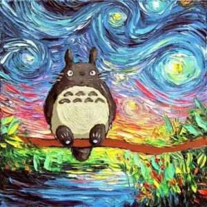 Totoro in Starry Night - Anime Painting by Numbers for Kids
