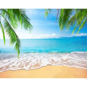 Tropical Paradise Beach Painting by Numbers for Adults