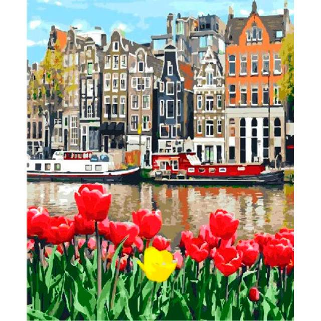 Tulips in Amsterdam - Paint by Numbers Kits