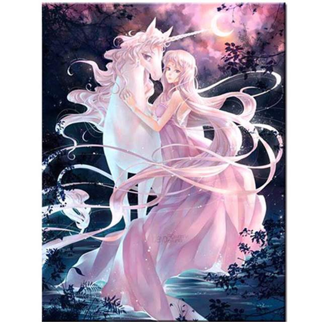 Unicorn and Fairy - Painting by Numbers for Kids