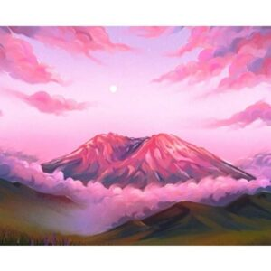 Volcano at Sunrise - Painting by Numbers for Sale