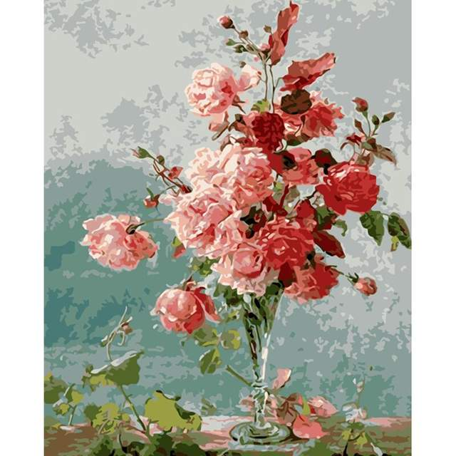 Watercolor Roses - Flowers Paint by Numbers