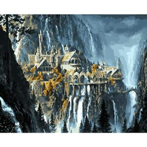 Waterfall Castle - DIY Paint by Numbers Kit