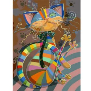 Whimsical Cat - Painting by Number