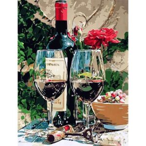 Wine Tasting - Painting by Numbers for Sale