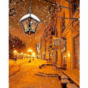 Winter Evening in the Light of Lanterns - Color by Numbers