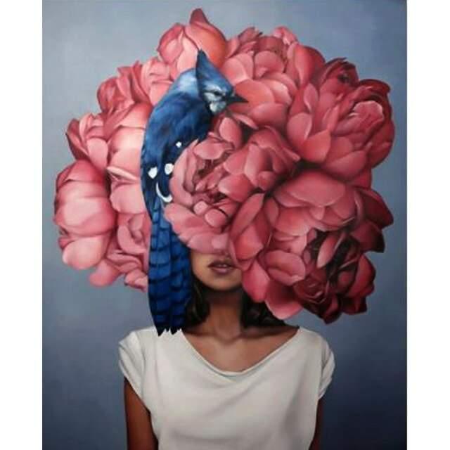 Woman Peony Flower Head - DIY Paint by Numbers