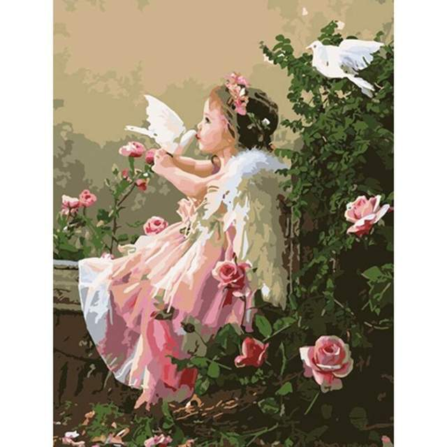 Wonderful Little Angel - Acrylic Paint by Numbers