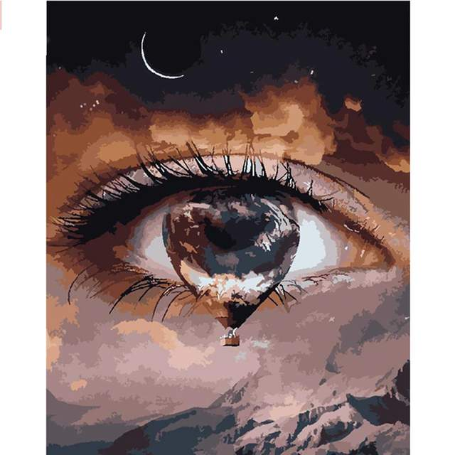 A Tear in My Eye - Abstract Paint by Numbers for Adults