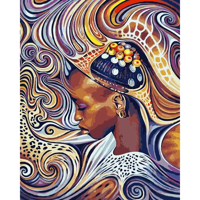 African Beauty - Portrait Art Paint by Numbers