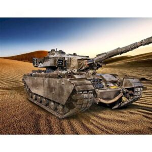 Battle Tank in Dunes - Army Paint by Numbers