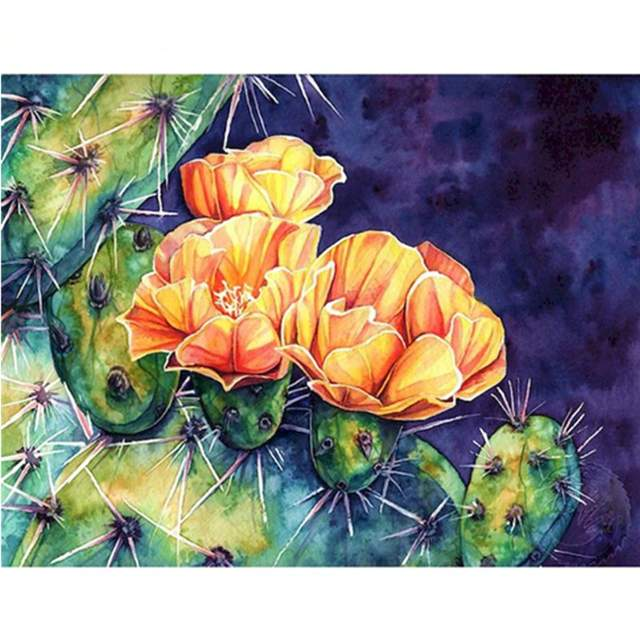 Cactus Flower - Coloring by Numbers for Adults