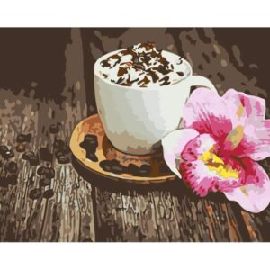 Cappuccino Coffee - Still Life Paint by Numbers Kits