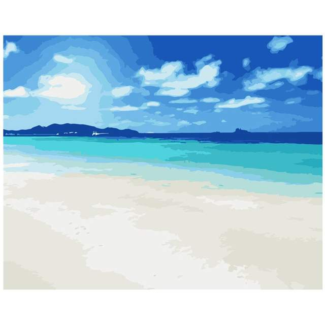 Caribbean Coast - Sea Paint by Numbers