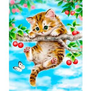 Cherry Kitten - Paint by Numbers Cat