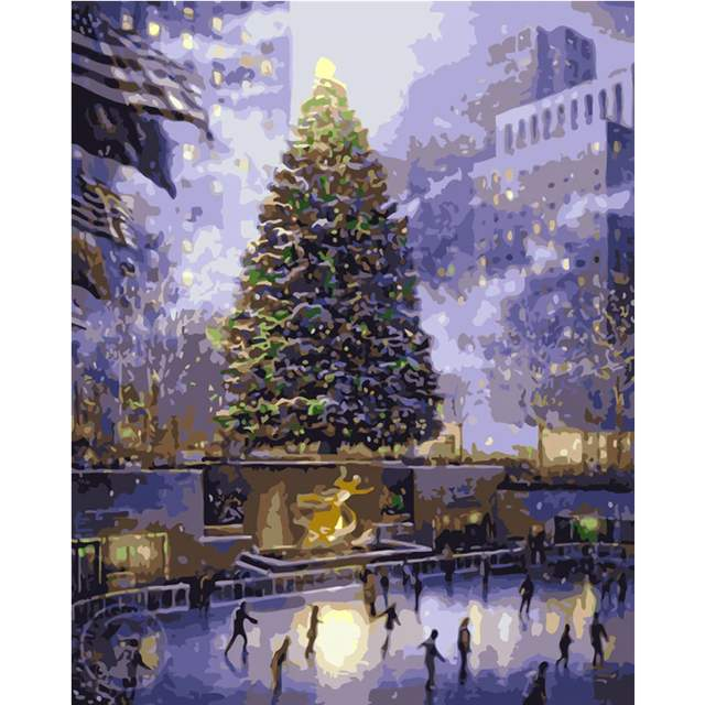 Christmas Tree in New York - Paint by Numbers for Adults