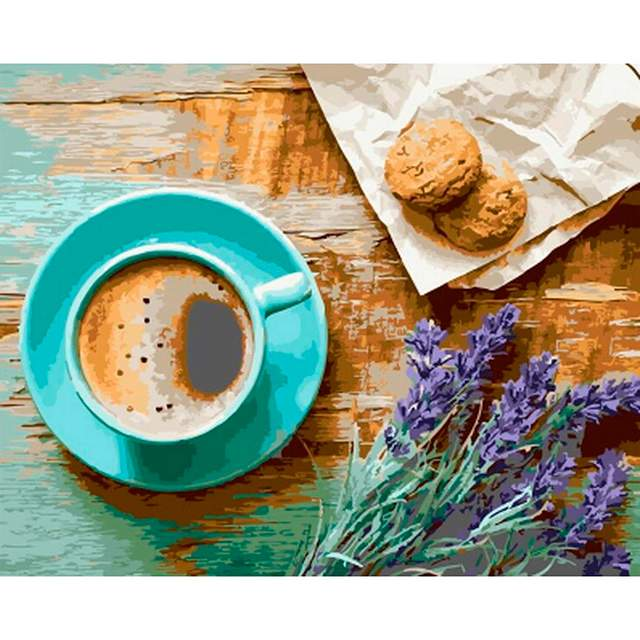 Coffee and Cookies - Color by Numbers Still Life
