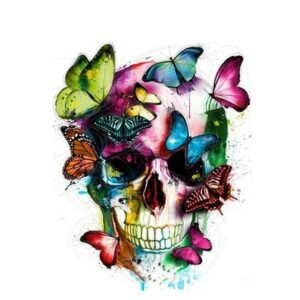 Colorful Butterfly Skull - Abstract Paint by Numbers Kits