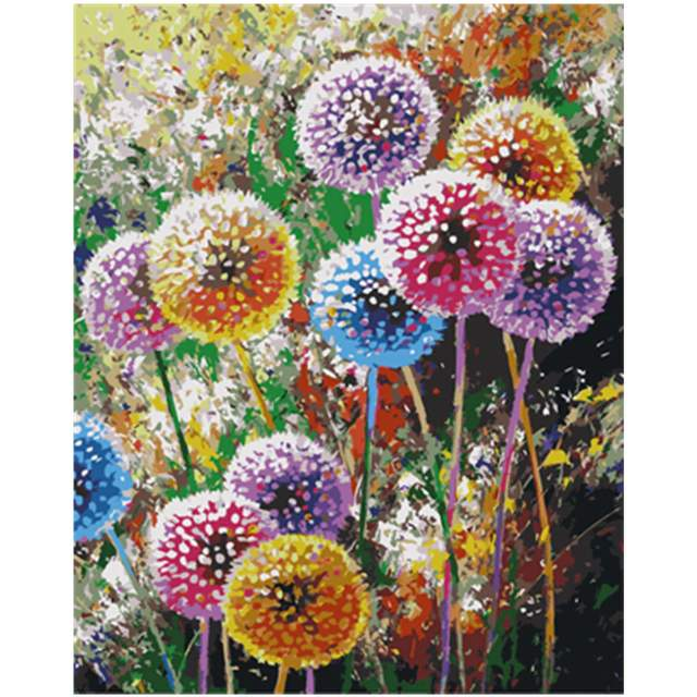 Colorful Dandelions - Flower Painting by Numbers