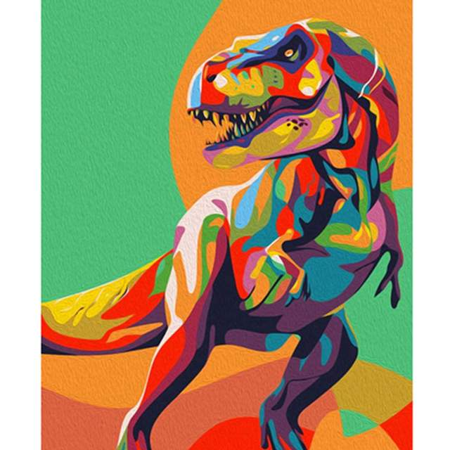 Colorful Dino - Easy Paint by Numbers