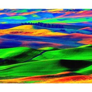 Colorful Hills - Abstract Painting by Numbers