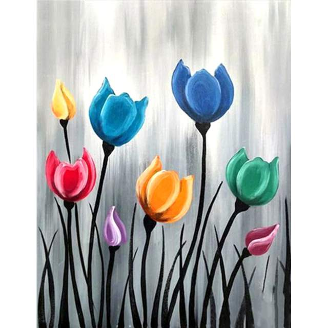 Colorful Tulips - Flowers Paint by Numbers Kits