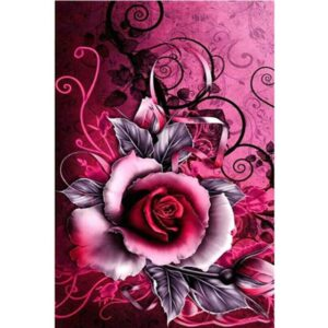 Crimson Rose - Flower Paint by Numbers Kit