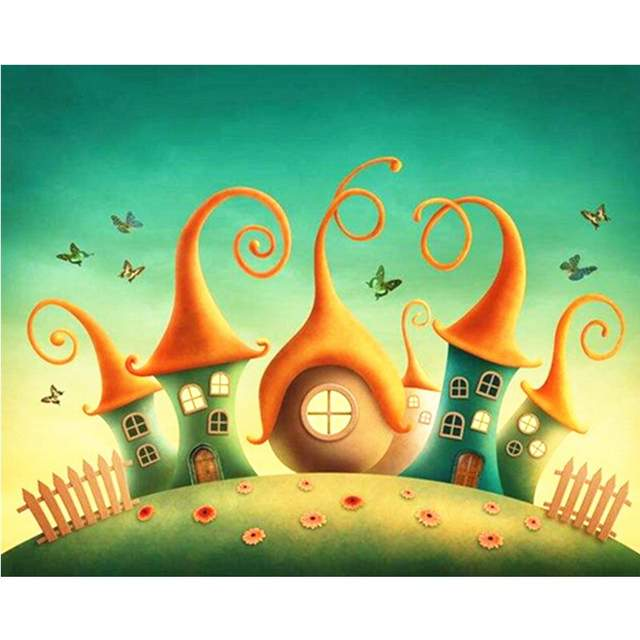 Dream House - Paint by Numbers for Kids