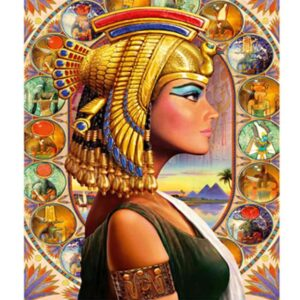 Egyptian Queen Cleopatra - Paint by Numbers for Adults.