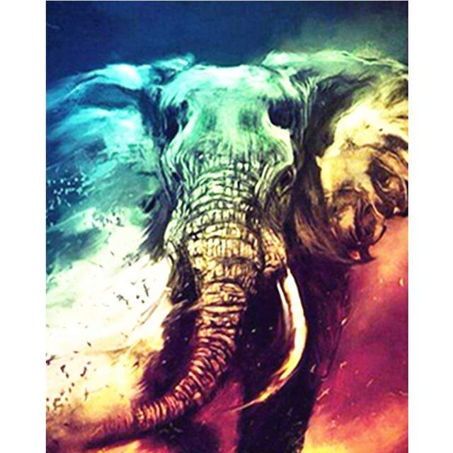 Fantasy Elephant - Paint by Numbers Animals
