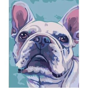 Favorite Pink Bulldog - Paint Pet by Numbers