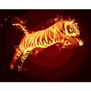 Fire Tiger - Animals Paint by Numbers
