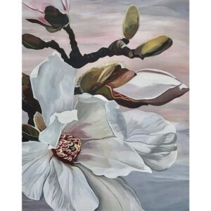 Flower of White Magnolia - Floral Paint by Numbers Kits
