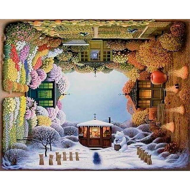 Four Seasons Garden - Surrealism Art Paint by Numbers