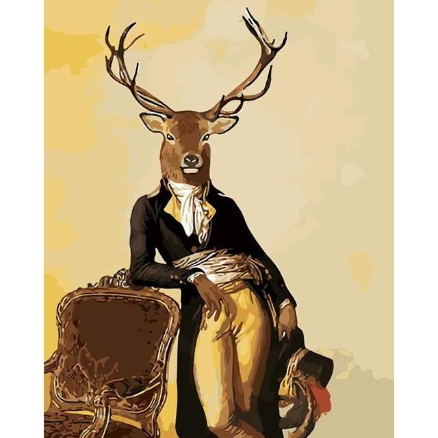 Gentleman Mister Deer - Paint by Numbers Kit