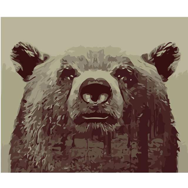 Grizzly Bear - Wildlife Paint by Numbers Kits