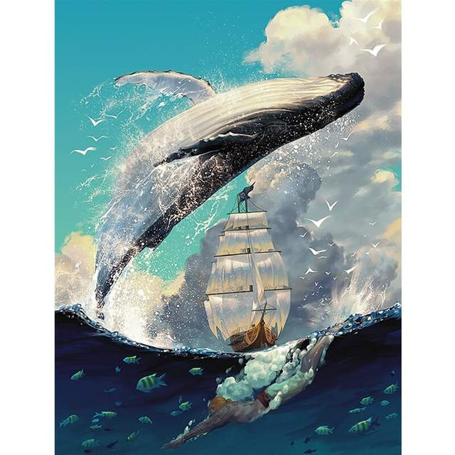 Guardian of Sea - Paint by Numbers Whale