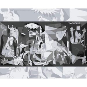 Guernica by Pablo Picasso - Paint by Numbers Famous Paintings