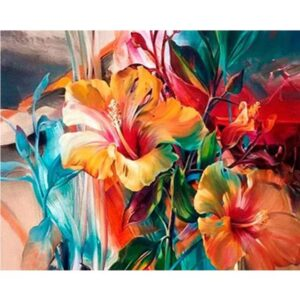 Hibiscus Flowers - Paint by Numbers Nature