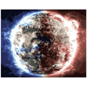 Ice and Fire Planet - Galaxy Paint by Numbers Kit