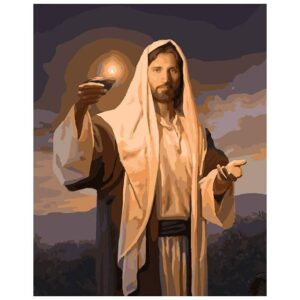 Jesus Lighting the Way - Religion Paint by Numbers