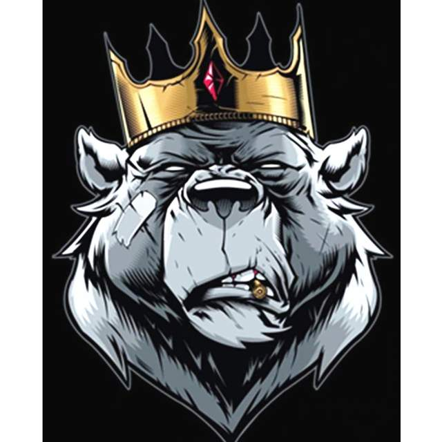 King Bear - Paint by Numbers Forest Animals