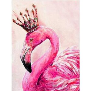 King Flamingo - Paint by Numbers Bird