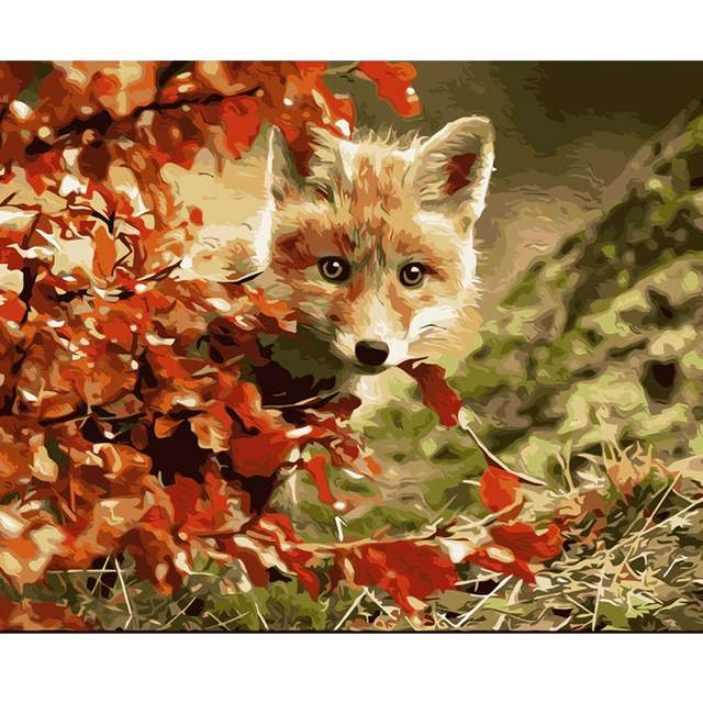 Little Fox in Fall - Animals Paint by Numbers